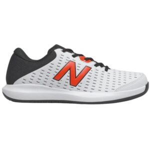 New Balance 696v4 Mens Tennis Shoes - White/Black/Orange