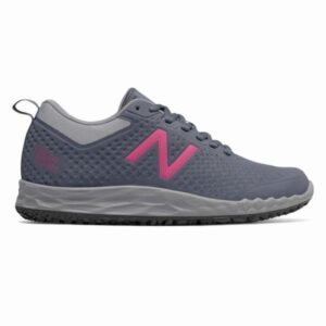 New Balance Slip Resistant Fresh Foam 806 - Womens Work Shoes - Grey/Berry