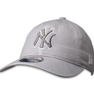 New Era 9Twenty NY Yankees Cap Wash Canvas Grey