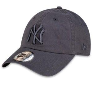 New Era NY Yankees Curved Peak Cap Dk Grey