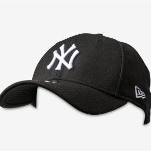 New Era NY Yankees Curve Peak Cap Black White