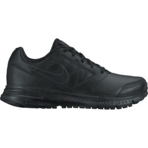 Nike Downshifter 6 Leather GS/PS - Kids School Shoes - Black/Anthracite