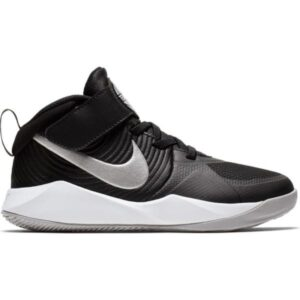 Nike Team Hustle D 9 PS - Kids Basketball Shoes - Black/Metallic Silver