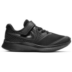 Nike Star Runner 2 PSV - Kids Running Shoes - Triple Black