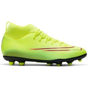 Nike Jr Mercurial Superfly 7 Club FG/MG - Kids Football Boots - Lemon Venom/Black/Aurora Green