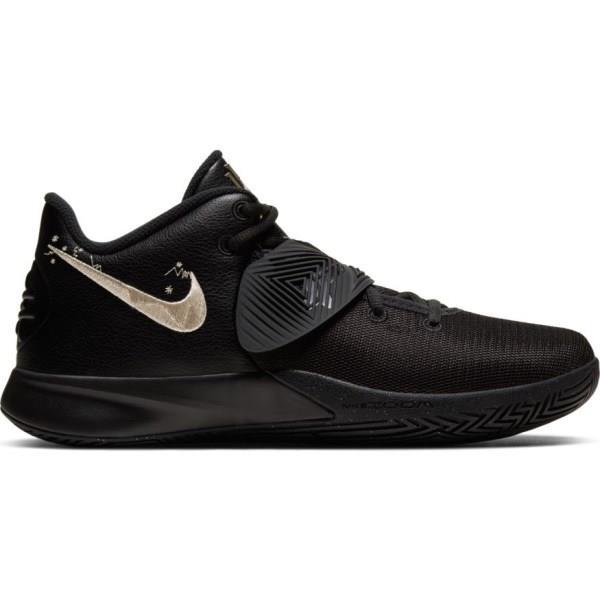 Nike Kyrie Flytrap III - Mens Basketball Shoes - Triple Black/Metallic Gold Star