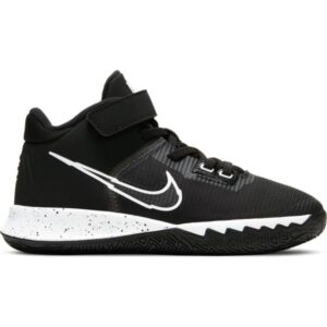 Nike Kyrie Flytrap IV PS - Kids Basketball Shoes - Black/White/Metallic Silver