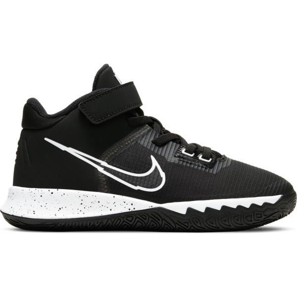 Nike Kyrie Flytrap IV PS - Kids Basketball Shoes - Black/White/Metallic Silver