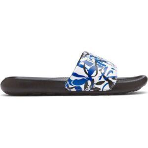 Nike Victori One Print - Womens Slides - Black/Hyper Royal/White