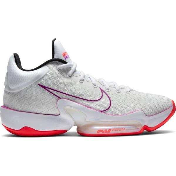 Nike Zoom Rize 2 - Mens Basketball Shoes - Summit White/Hyper Violet/Flash Crimson