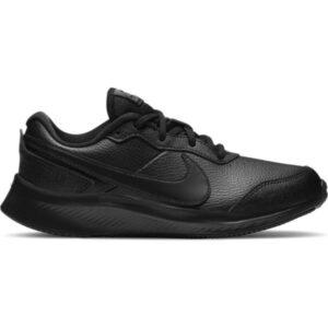 Nike Varsity Leather GS - Kids Sneakers - Black/Black