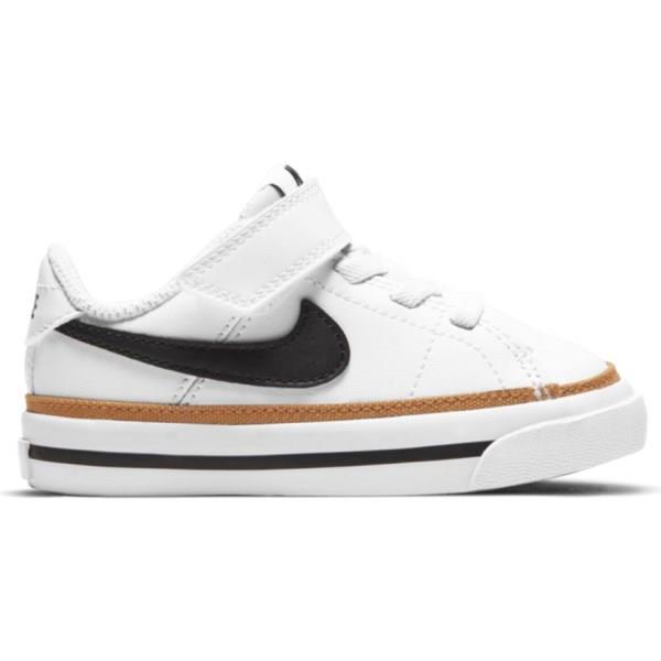 Nike Court Legacy - Toddler Sneakers - White/Black/Desert Ochre/Gum Light Brown