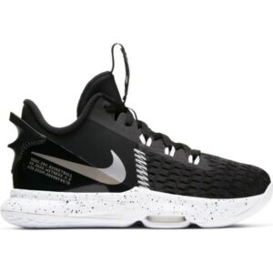 Nike Lebron Witness V GS - Kids Basketball Shoes - Black/Metallic Silver/White