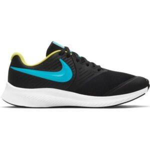 Nike Star Runner 2 GS - Kids Running Shoes - Black/Chlorine Blue/High Voltage/White