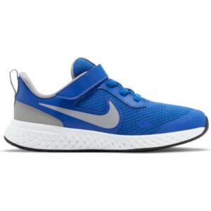 Nike Revolution 5 PSV - Kids Running Shoes - Game Royal/LT Smoke Grey/White