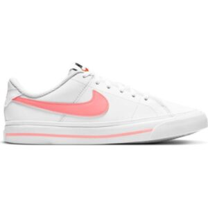 Nike Court Legacy GS - Kids Sneakers - White/Sunset Pulse