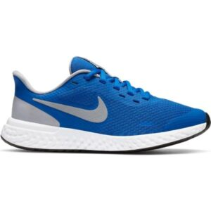 Nike Revolution 5 GS - Kids Running Shoes - Game Royal/Light Smoke Grey/White