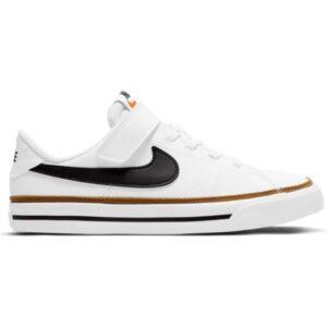 Nike Court Legacy PSV - Kids Sneakers - White/Black Desert/Ochre gum