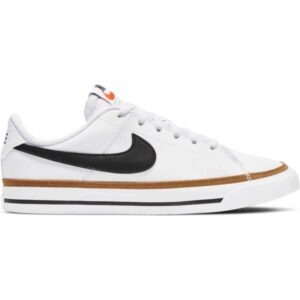 Nike Court Legacy GS - Kids Sneakers - White/Black/Desert Ochre