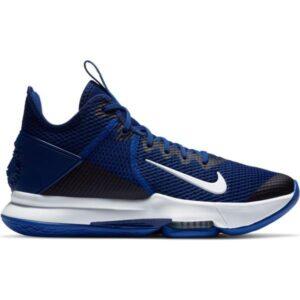 Nike LeBron Witness IV Team - Mens Basketball Shoes - Deep Royal Blue/White/Racer Blue