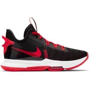 Nike Lebron Witness V - Mens Basketball Shoes - Black/Bright Crimson/University Red