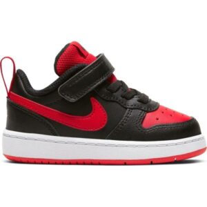 Nike Court Borough Low 2 TDV - Toddler Sneakers - Black/University Red
