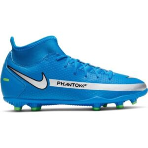 Nike Jr Phantom GT Club Dynamic Fit MG - Kids Football Boots - Photo Blue/Metallic Silver/Rage Green