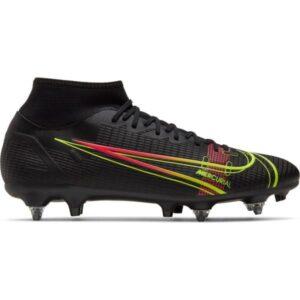Nike Mercurial Superfly 8 Academy SG - Mens Football Boots - Black/Cyber-Off Noir