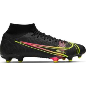 Nike Mercurial Superfly 8 Academy MG - Mens Football Boots - Black/Cyber-Off Noir