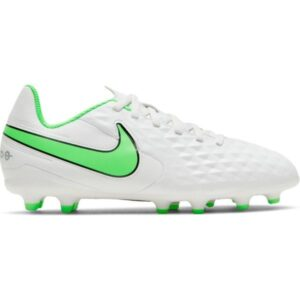Nike Jr Tiempo Legend 8 Club FG/MG - Kids Football Boots - Platinum Tint/Rage Green