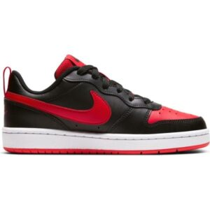 Nike Court Borough Low 2 GS - Kids Sneakers - Black/University Red/White