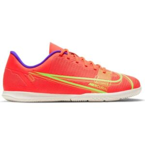 Nike Mercurial Vapor 14 Club IC - Kids Indoor Soccer Shoes - Bright Crimson/Metallic Silver