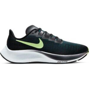 Nike Air Zoom Pegasus 37 - Womens Running Shoes - Black/Ghost Green