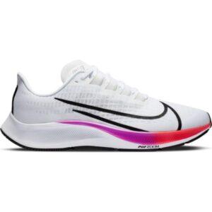 Nike Air Zoom Pegasus 37 - Mens Running Shoes - White/Black/Hyper Violet/Flash Crimson