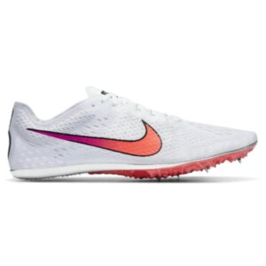 Nike Zoom Victory 3 - Unisex Long Distance Track Spikes - White/Flash Crimson/Black/Hyper Jade