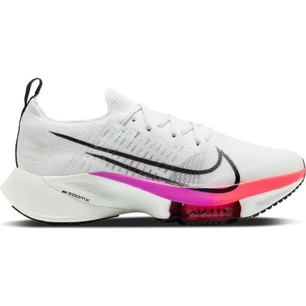 Nike Air Zoom Tempo Next% - Mens Running Shoes - White/Black/Hyper Violet/Flash Crimson