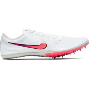 Nike Zoom Mamba V - Unisex Steeplechase Track Spikes - White/Flash Crimson/Black/Hyper Jade