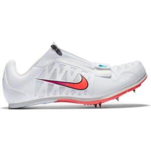 Nike Zoom Long Jump 4 - Unisex Long Jump Spikes - White/Flash Crimson/Black/Hyper Jade