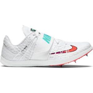 Nike Triple Jump Elite - Unisex Triple Jump Spikes - White/Flash Crimson/Black/Hyper Jade