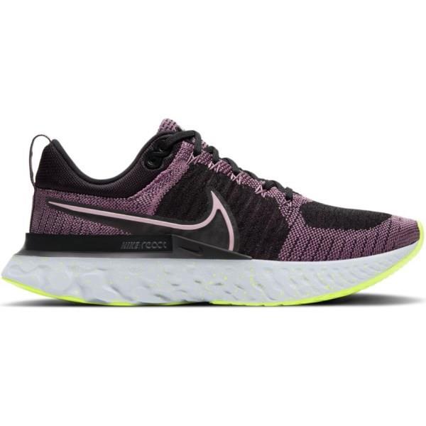 Nike React Infinity Run Flyknit 2 - Womens Running Shoes - Violet Dust/Elemental Pink/Black