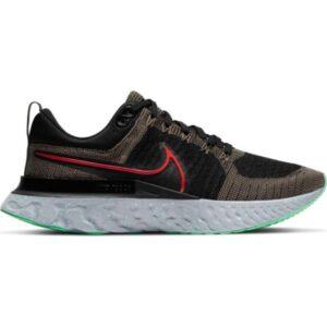 Nike React Infinity Run Flyknit 2 - Mens Running Shoes - Ridgerock/Chile Red/Black