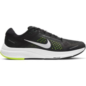 Nike Air Zoom Structure 23 - Mens Running Shoes - Black/Metallic Silver/Volt
