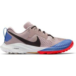 Nike Air Zoom Terra Kiger 5 - Womens Trail Running Shoes - Pumice/Pacific Blue/Bright Crimson/Oil