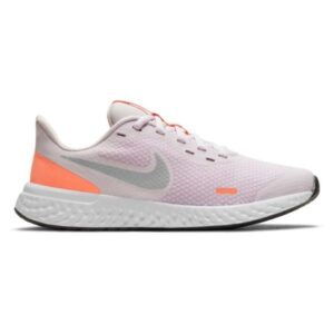 Nike Revolution 5 GS - Kids Running Shoes - Light Violet/Metallic/Platinum Crimson Bliss