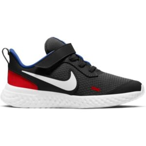 Nike Revolution 5 PSV - Kids Running Shoes - Black/White/University Red/Game Royal