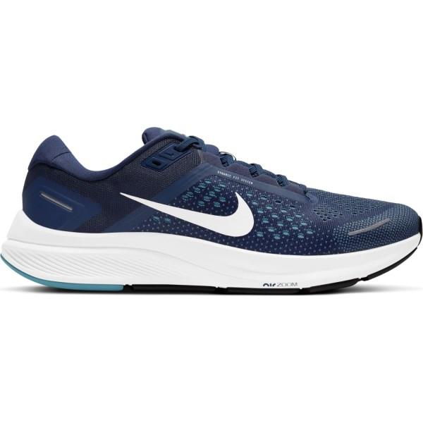Nike Air Zoom Structure 23 - Mens Running Shoes - Midnight Navy/White/Cerulean