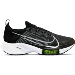Nike Air Zoom Tempo Next% - Mens Running Shoes - Black/White/Volt