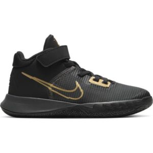 Nike Kyrie Flytrap IV PS - Kids Basketball Shoes - Black/Metallic Gold/Anthracite