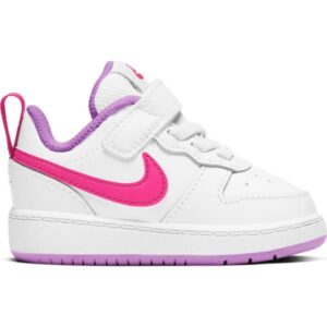 Nike Court Borough Low 2 TDV - Toddler Sneakers - White/Hyper Pink/Fuschia Glow