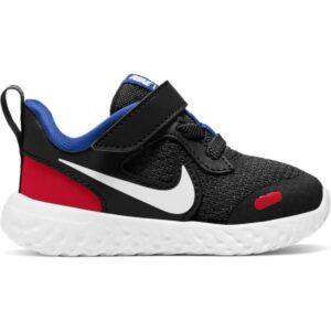 Nike Revolution 5 TDV - Toddler Running Shoes - Black/White/University Red/Game Royal